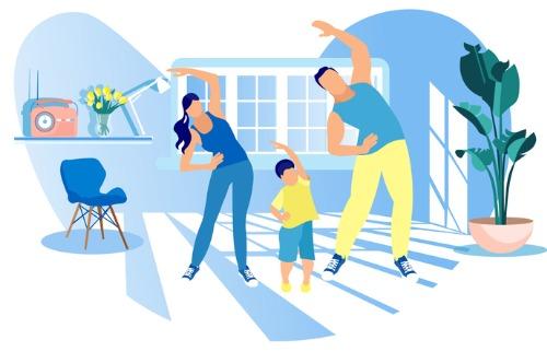 《同心抗疫 健體積極》在家進行體能活動